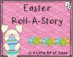 Easter Roll-A-Story Roll A Story, Easter Arts And Crafts, Writing Lessons, Craft Activities, Middle School, Preschool, Author, Templates, Teaching High Schools