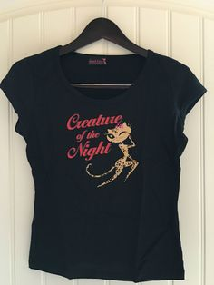 5e7ed20c02ebd Authentic FRENCH KITTY Leticia Leopard cat Creature of the Night graphic  tee  FrenchKitty  GraphicTee