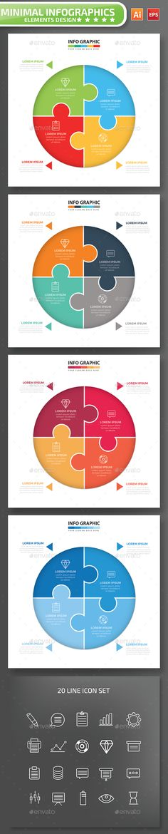Infographic Tutorial infographic tutorial illustrator cs3 templates for word : Modern Infographic Circle Template | Templates, Circles and Modern