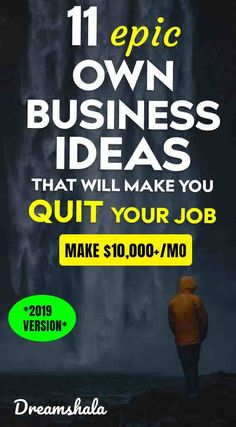 Tired of doing regular job? Want to start your own business? Here you can see the 11 proven ideas to become your own boss. Check now and start working! Own Business Ideas, Starting Your Own Business, Business Advice, Home Based Business, Business Planning, Online Business, Business Website, Business Opportunities, Work From Home Jobs