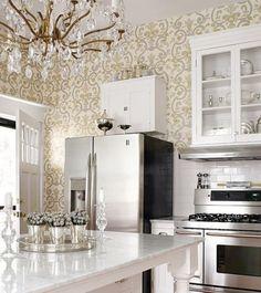 Papel de parede na cozinha