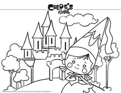 Chloe's Closet Coloring Page: Chloe's Closet Coloring Page