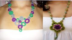 tutorial collares tejidos con crochet - YouTube