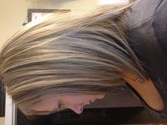 3 color blonde foils