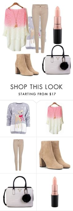 """""""Untitled #20"""" by mujaric ❤ liked on Polyvore featuring Boohoo, 7 For All Mankind, Yves Saint Laurent, GUESS and MAC Cosmetics"""