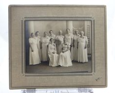 "Vintage Black & White Photograph 9"" X 7"" Women White Dresses Wright Beloit"