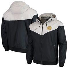 e0d015644fc Paris Saint-Germain Nike Woven Full-Zip Hooded Windrunner Windbreaker –  Black White