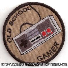 Old School Gamer NES Merit Badge Patch by StoriedThreads on Etsy Cool Patches, Pin And Patches, Sew On Patches, Funny Patches, Bioshock, Punk Rock, Stickers, Nate River, Nintendo