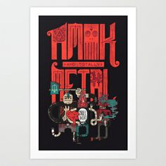 Amok And Totally Metal Art Print by Hector Mansilla