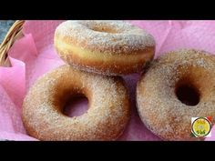 Learn how to make easy Sugar coated Doughnuts. Homemade delicious, fluffy doughnuts recipe with sugar coated. * Ingredients for Sugar coated doughnuts: *Flou. Churros, Donut Recipes, Dessert Recipes, Cooking Recipes, Desserts, Breakfast Recipes, Baked Donuts, Doughnuts, Just Donuts