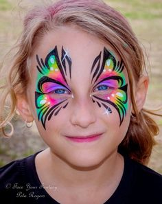 face your fantasy Face Painting Unicorn, Girl Face Painting, Doll Face Paint, Face Paint Makeup, Unicorn Face, Face Painting Stencils, Face Painting Designs, Butterfly Face Paint, Rainbow Butterfly