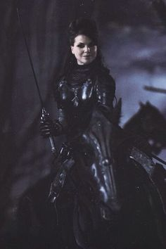 Awesome Evil Queen Regina riding an awesome horse Once S2