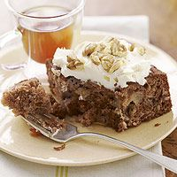 yum - got to remember this for next year Rosh Hashana Apple, Walnut, and Honey Spice Cake with Honey-Cream Cheese Frosting