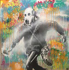 INDO Street Artist  Peacemaker  Original Mixed Media on Board 120cm x 120cm