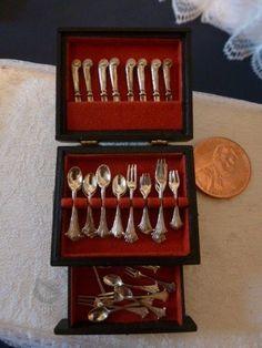 obadiah fisher 39 piece miniature silverware chest