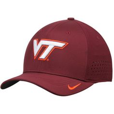 eb9ccfc8c31dd Virginia Tech Hokies Nike Sideline Vapor Coaches Performance Flex Hat -  Maroon