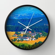 One summer day in the highlands Wall Clock