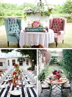Chic wedding decoration    Bridal Bar Blog: Daily Events & Wedding Inspirations in a Blog Format - New Blog