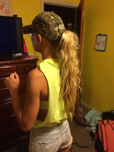 White trash bash hairstyle idea! White Trash Party Outfits, White Trash Bash, Redneck Party, S Curl, 21st, Dreadlocks, Hairstyle, My Style, Birthday