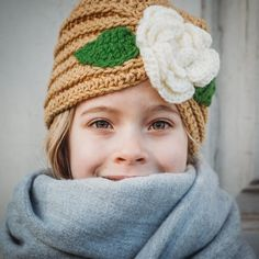 Garden Variety Cloche with Flower Applique - Cris Crochet Shop Turban Hat, Beret, Flower Applique, Daughter Love, Hat Making, Be My Valentine, Crochet Flowers, Gifts For Kids, Gift Guide