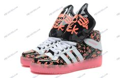 on sale fb2c2 9aae8 Adidas Originals Jeremy Scott Rock High Cut Black Pink Fluorescence Women s  Running Shoes buy shoes online