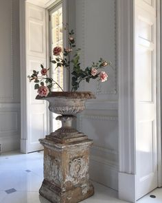 Beautiful 19th C. English antique urn. Use indoors or out. Country house or modern loft.