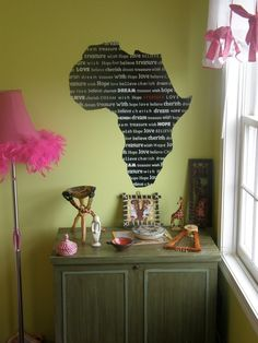 Africa sticker to remind you to pray for them(: