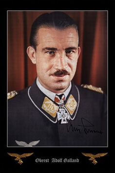 Adolf Galland, perhaps Germany's most famous ace.