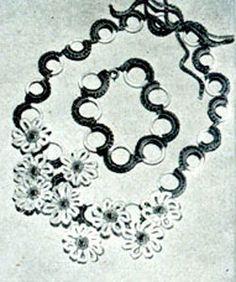 Daisy Necklace & Bracelet Pattern #2108   Crochet Patterns