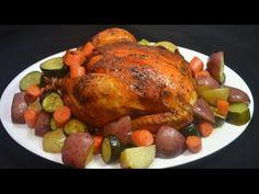 Pollo al horno con hierbas y vegetales