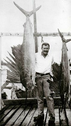 Ernest Hemingway in Cuba in 1934. He persuaded the Academy to undertake a collecting trip to Havana to augment its holdings of fish specimens.