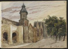 Adrien Dauzats | Vue d'une église à Bordeaux | Images d'Art