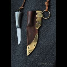 Small women's knife. These were usually worn dangeling from the neck, or a tablet woven belt. To wear a visible knife, was a sign of freedom in pagan Europe.  http://jorgencraft.com/index.php?route=product/category&path=61_99