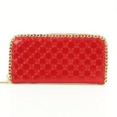 Red wallet MOD:787001589 Zip Around Wallet, Red