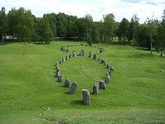Viking grave in Vasteras Sweden