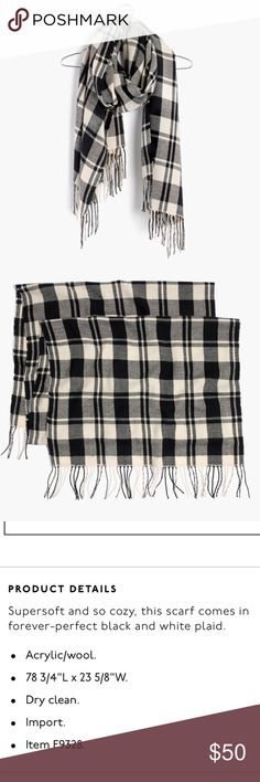 NWT Madewell Patterson plaid scarf Perfect NWT condition. I have too many scarves so I've never worn it 😬 Madewell Accessories Scarves & Wraps