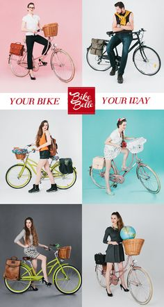 from our new campaign, awesome shots by Anna Kurnyta.  Your Bike Your Way by bikebelle.com
