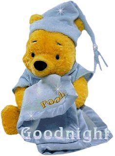 Teddy Bear, Glitter, Winnie The Pooh - Good Night image Good Night Love Messages, Good Evening Messages, Lovely Good Night, Good Night Images Hd, Good Night Greetings, Good Night Wishes, Night Pictures, Good Night Sweet Dreams, Good Morning Good Night