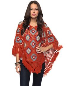 Ponchos are one thing. Fringed acrylic Forever 21 ponchos are another. You will think this is a fun, quirky choice for your wardrobe for a total of three minutes. Then you will fold it up at the foot of your bed for your cat to sleep on.