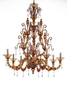 Murano glass artistic chandelier 788/8/DA