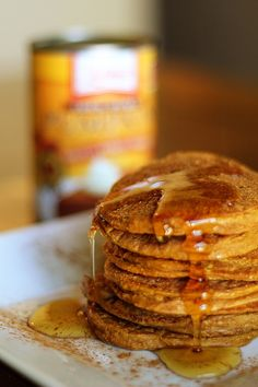 Gluten free pumpkin spice protein pancakes for ben! Pumpkin Protein Pancakes, Gluten Free Pumpkin, Healthy Pumpkin, Good Food, Yummy Food, Pancakes And Waffles, Yummy Treats, Food And Drink, Tasty