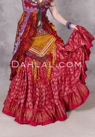 Separates - Skirts - Tiered Skirts - Page 2 - Dahlal Internationale Inc Belly Dance Skirt, Tribal Belly Dance, Tribal Skirts, Tribal Outfit, Tiered Skirts, Costume Shop, Dance Outfits, Separates, Printed Skirts