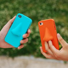 LOL!!! and ...eeew. Nose phone cover Fab.com | Hana iPhone 4/4S Cover Orange