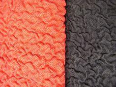 Kolmiulotteinen takkikangas, tekstiilikrimikuosi Vilma-mallistoon / three-dimensional fabric for jackets. //  Tilaaja/Client: Unica Fashion  // Suunnittelija/Designer: Sari Kettunen (kuosi/pattern), Eeva-Maria Kerälä (mallisto/collection), Susanna Kekkonen (grafiikka/graphics) // Yhteistyökumppanit/Partners: Wizleben&kni, Tampereen Mattopesupalvelu