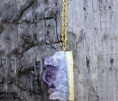 Amethyst Slice Necklace, for my sister!