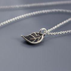 Tiny Leaf Necklace by Lisa Hopkins Design