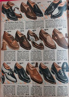 Men's Shoes. 1958