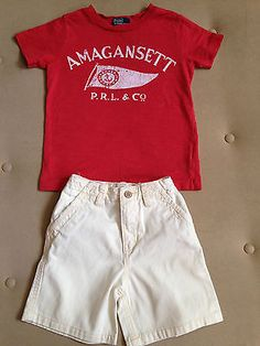 Toddler Boy Summer Outfit Ralph Lauren T-shirt & Place Cotton Shorts Size 3 - http://clothing.goshoppins.com/baby-toddler/toddler-boy-summer-outfit-ralph-lauren-t-shirt-place-cotton-shorts-size-3/