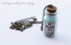 Alice In Wonderland Drink Me Bottle Charm Necklace by CharmsByIzzy, $8.85