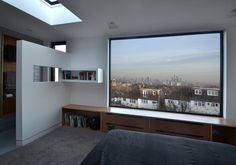 Framing the view. Loft conversion in West Norwood, South London by Selencky///Parsons Architects Loft Conversion Bedroom, Dormer Loft Conversion, Loft Conversions, Loft Conversion Architect, Attic Bedroom Designs, Attic Rooms, Attic Renovation, Attic Remodel, Loft Room